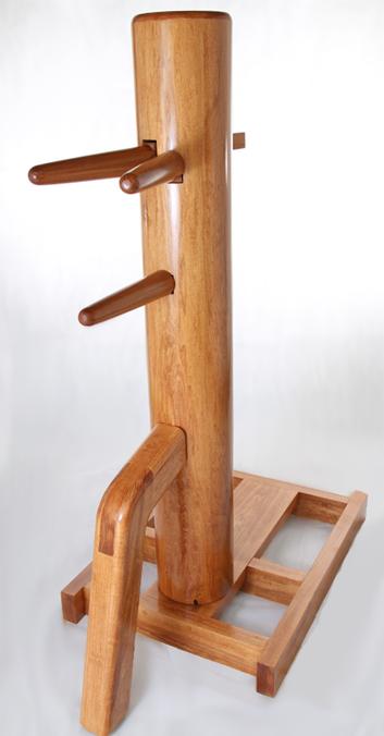 freestanding wing chun wooden dummy oak