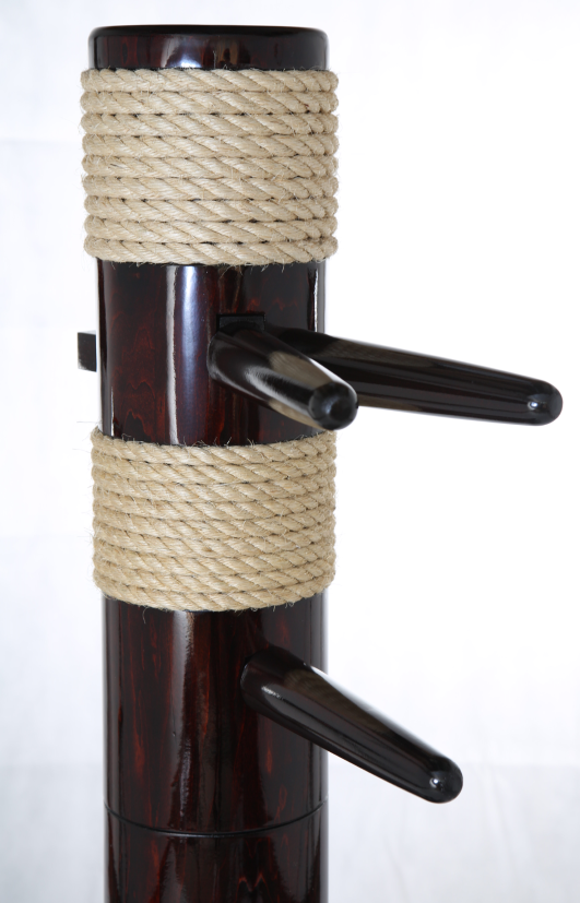 rope bound freestanding wing chun wooden
