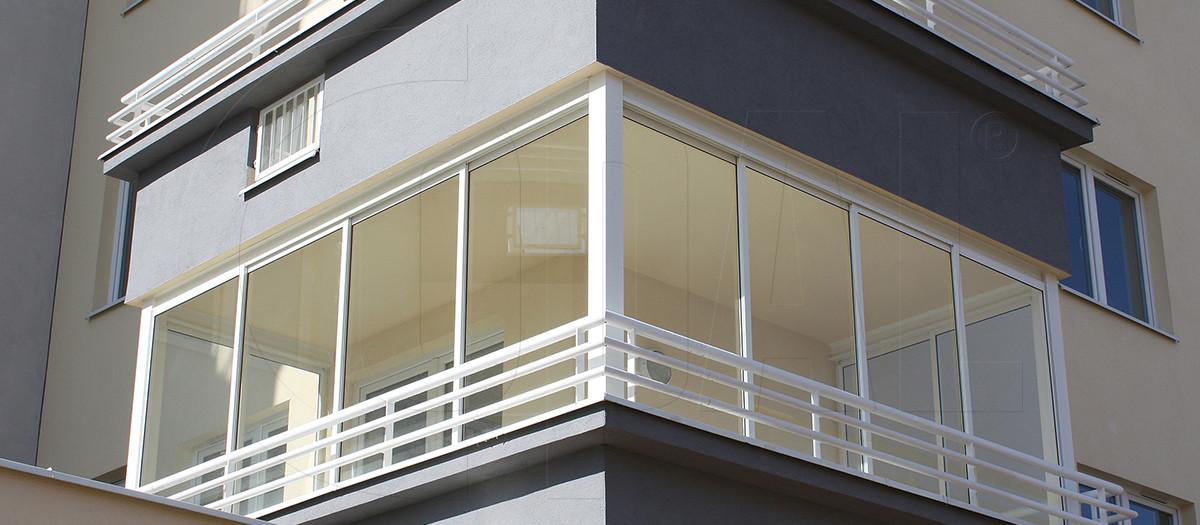 ZAbudowa balkonu system ramkowy
