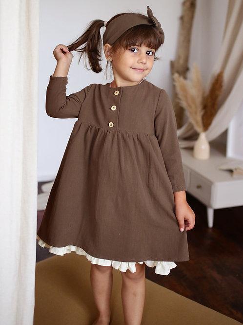 Платье  МТ20-6 кофе фланель