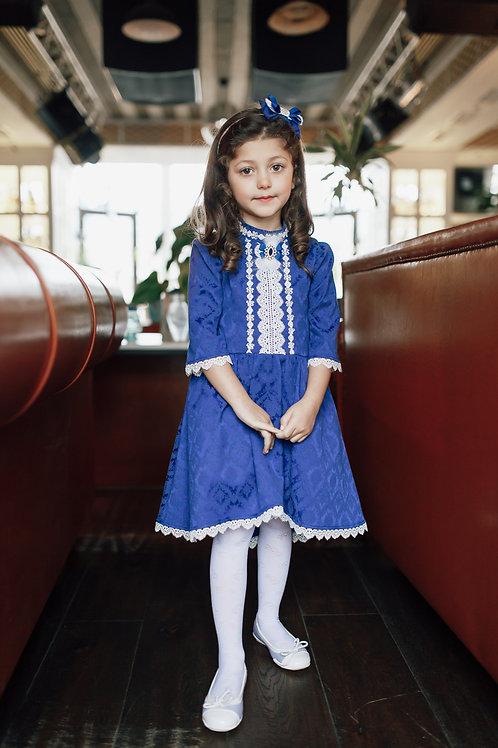 платье для девочки Элис М-422 синий
