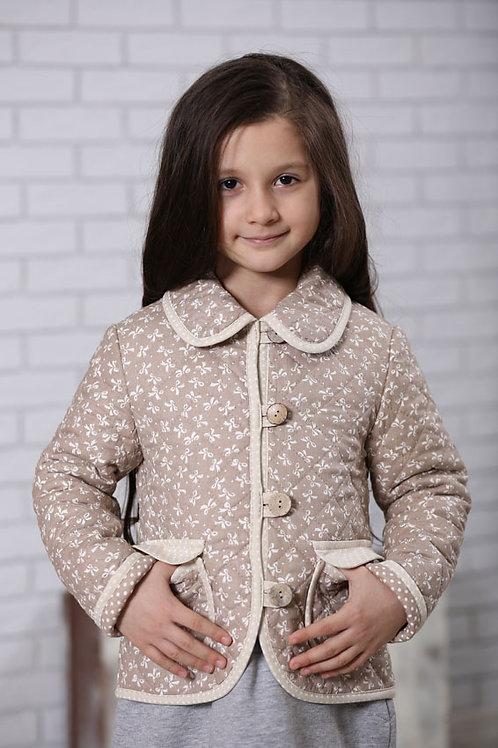 куртка для девочки  М-363 бантики