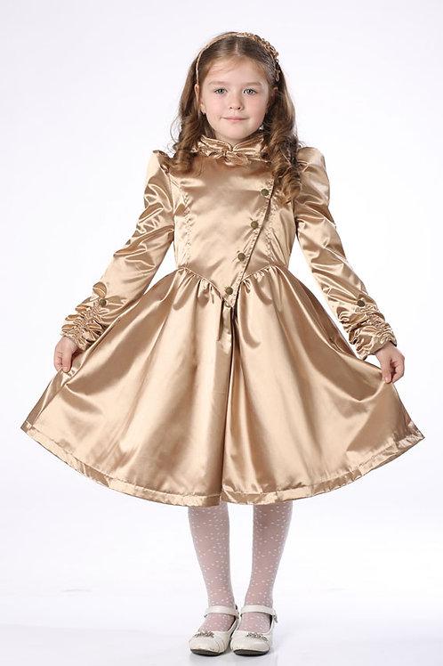 Плащ детский для девочки М423 золото
