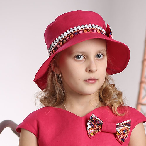 Шляпа Камила ГУ068 малина