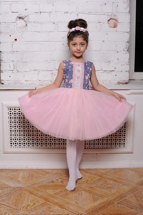 Платье  для девочки МТ 18-12 Розы лаванда