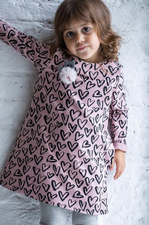 Платье для девочки  Р19-2 сердечки