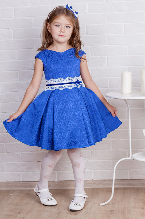 платье для девочки Софи М-387 синий