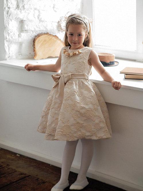 Платье для девочки Милана М-257 розы жаккард