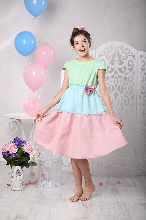 """платье для девочки М 350-1 """"Эмилия"""""""