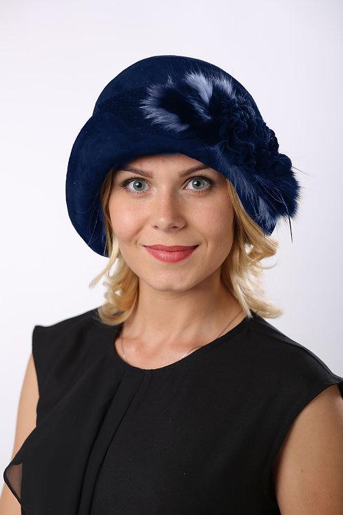Шляпа женская РАМОНА КМ1601 синий