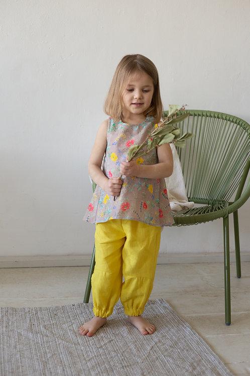 "Л 21-8 блуза для девочки ""ELF"" рами крапива"