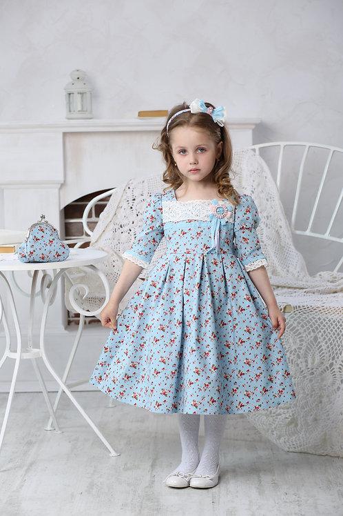 Платье для девочки МТ 16-2 земляника