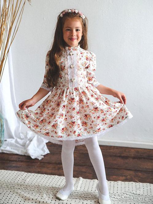 Платье  МТ-422 розочки айвори