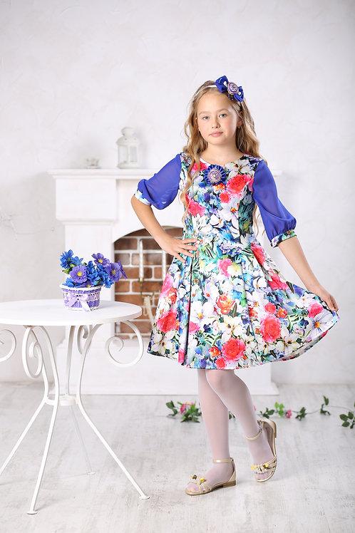 платье для девочки Лия М-428 полянка