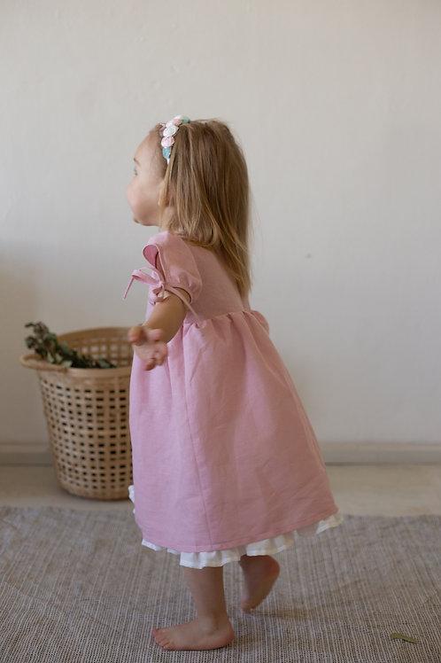 """платье  для девочки Л21-4 """"Есения"""" чайная роза"""