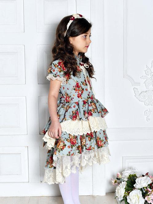 Платье  МТ19-3 лен бирюза