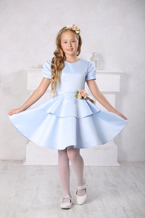 платье для девочки Вальс А 16-2 голубой