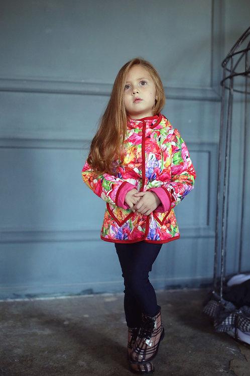 Куртка детская для девочки М-377 фламинго