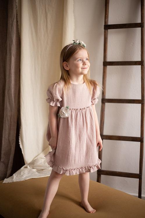 """М20-5 Платье для девочки """"Бетти"""" пыльная роза"""