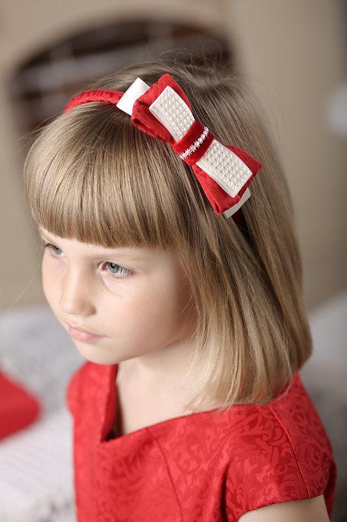Ободок Софи красный