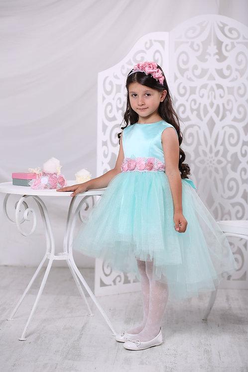 платье для девочки Карамель мятный