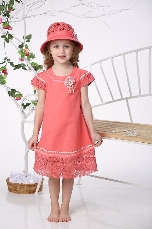 платье для девочки Каролина Л16-5 коралл