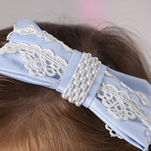 резинка для волос Бантик голубой