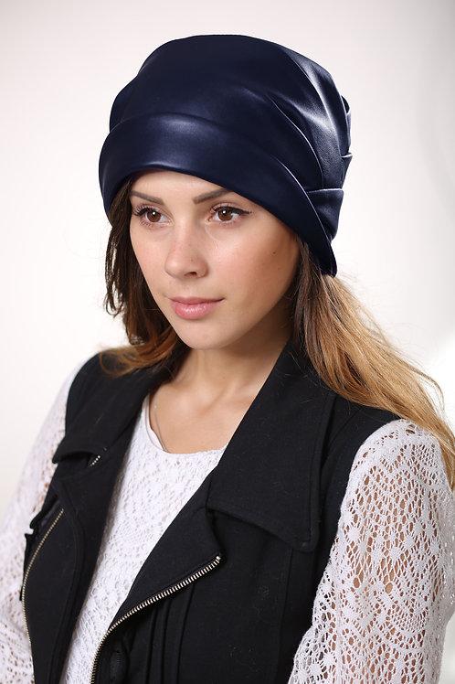 Шляпа женская ЛИРА  К1507 синяя кожа