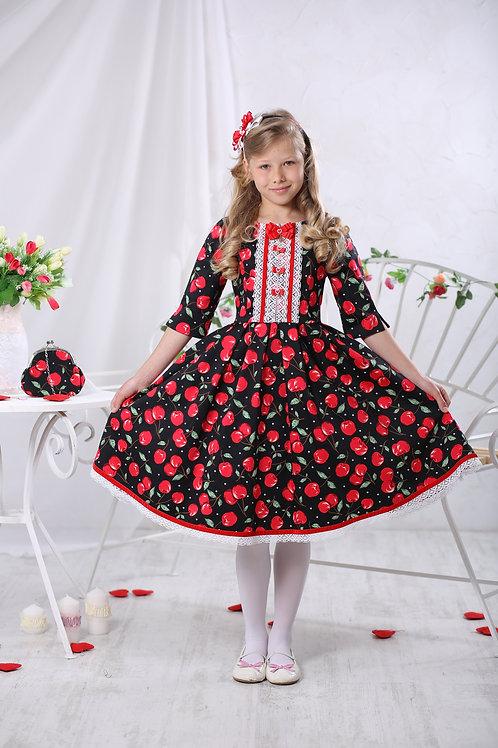 Платье для девочки МТ 17-3 вишенка