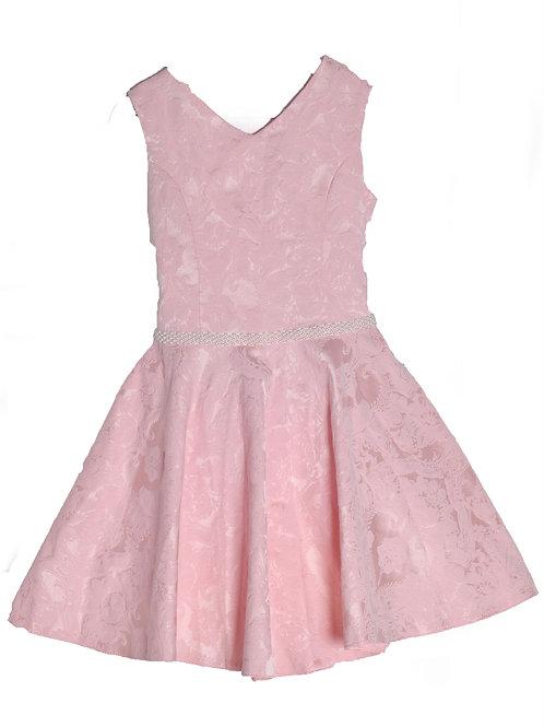 платье для девочки Ж18-2 жаккард персик