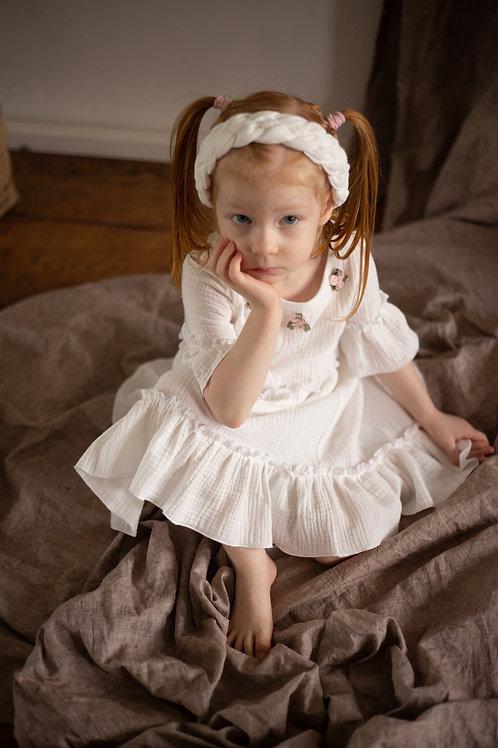 """М20-2  Платье для девочки """"Николетт"""" белый"""