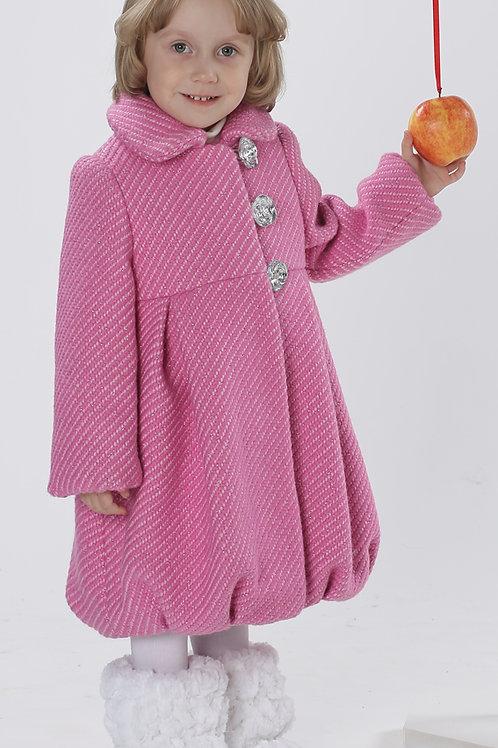 Пальто  детское  для девочки  Мила  М-266-1 розовый
