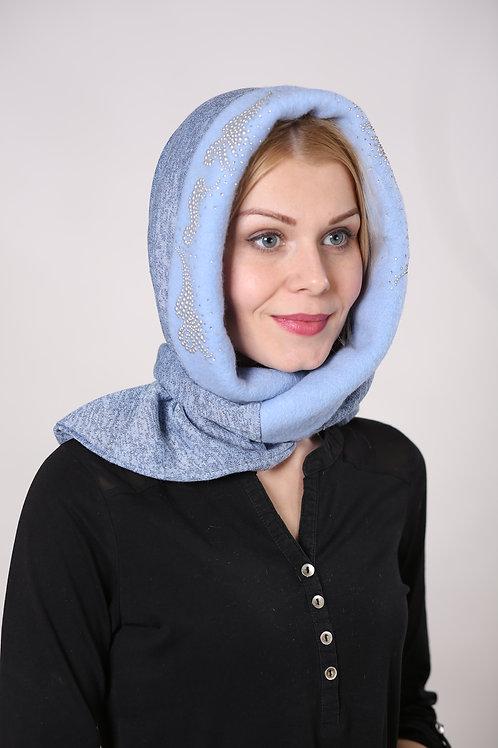 Капор женский Ш1714 голубой