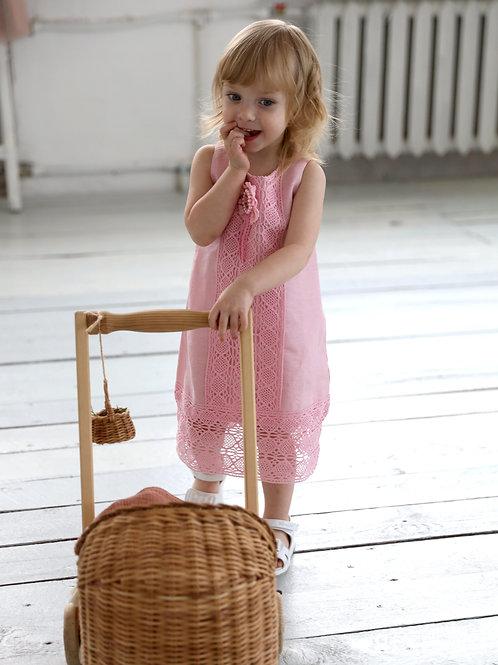 """платье для девочки Л17-7 """"Майя""""чайная роза"""