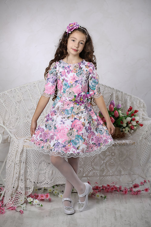 платье для девочки Адель М-430 цветы
