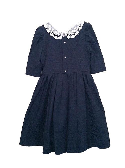 Платье  для девочки МТ 19-33 темно синий