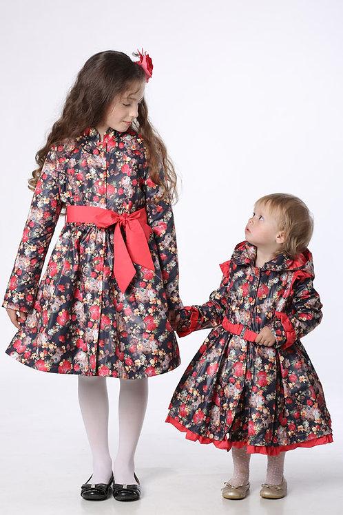 Плащ детский для девочки М380-1 цветы