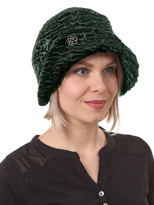 Шляпа женская ЛЮКС Н1901 изумруд
