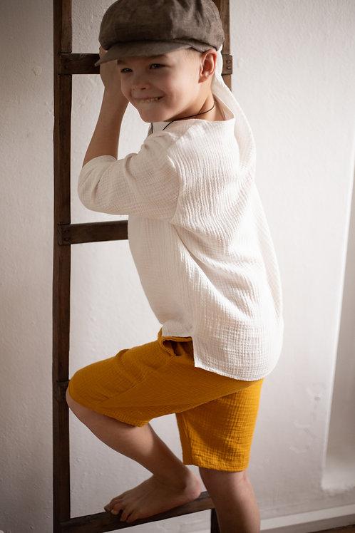 М20-10 шорты для мальчика горчица