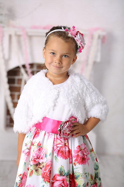 Жакет меховой  для девочки  М-227 лама