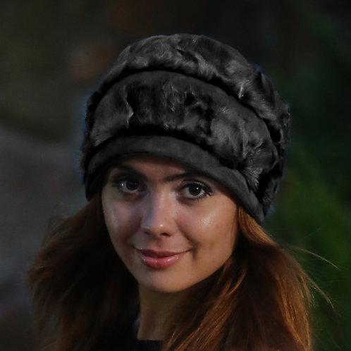 Шапка женская ИВОЛГА  КМ045 черный