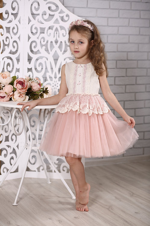 """платье для девочки Л 18-6 """"Новелла""""горох"""