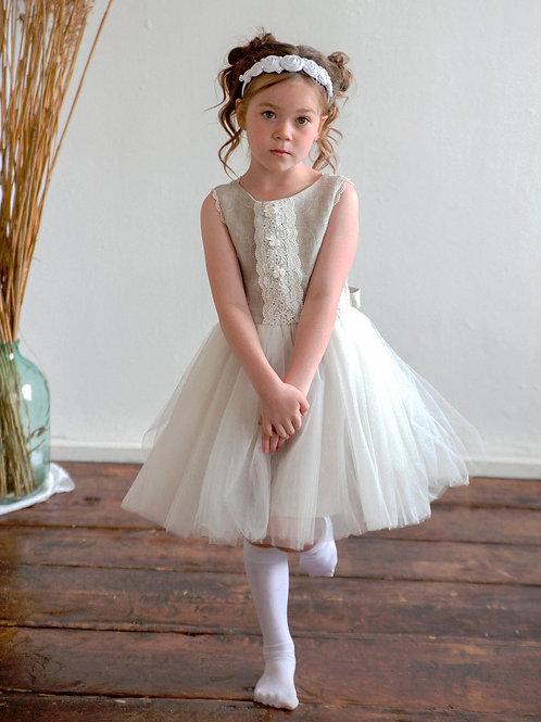 Платье для девочки Мальва Л 21-12 лен вышивка