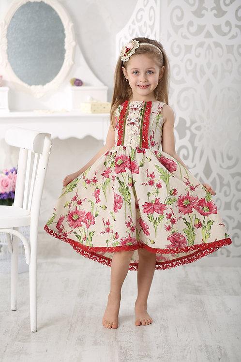 """платье для девочки Л17-5 """"Маки"""""""