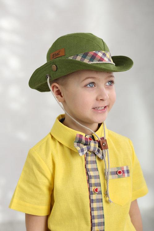 "Шляпа ""Сафари"" ГУ17-18 зеленый+клетка"