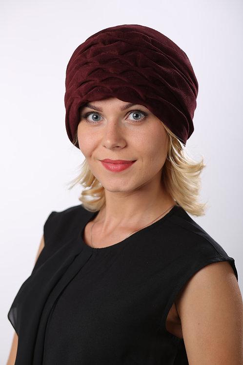 Шляпа женская ЛИНА  К1604 бордовый