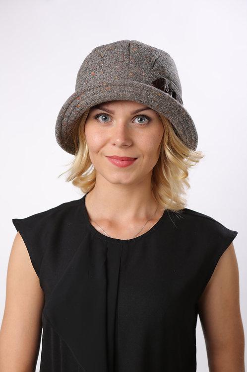 Шляпа женская КРИСТИ  Д071  серый твид