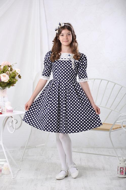 Платье для девочки МТ 16-2 горошек