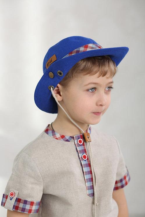 "Шляпа ""Сафари"" ГУ17-18 василек+клетка"