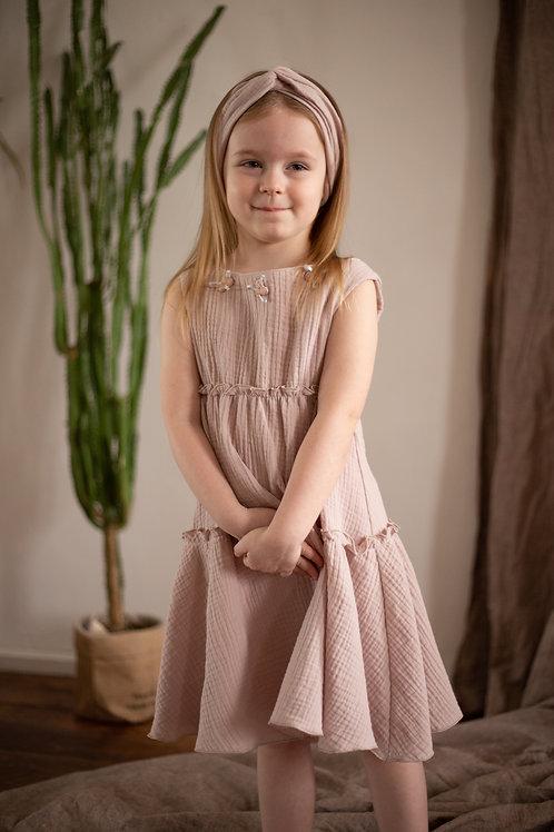 """М20-1  Платье для девочки """"Элизабетт"""" пыльная роза"""